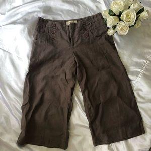 London Jean Crop Brown Linen Pants